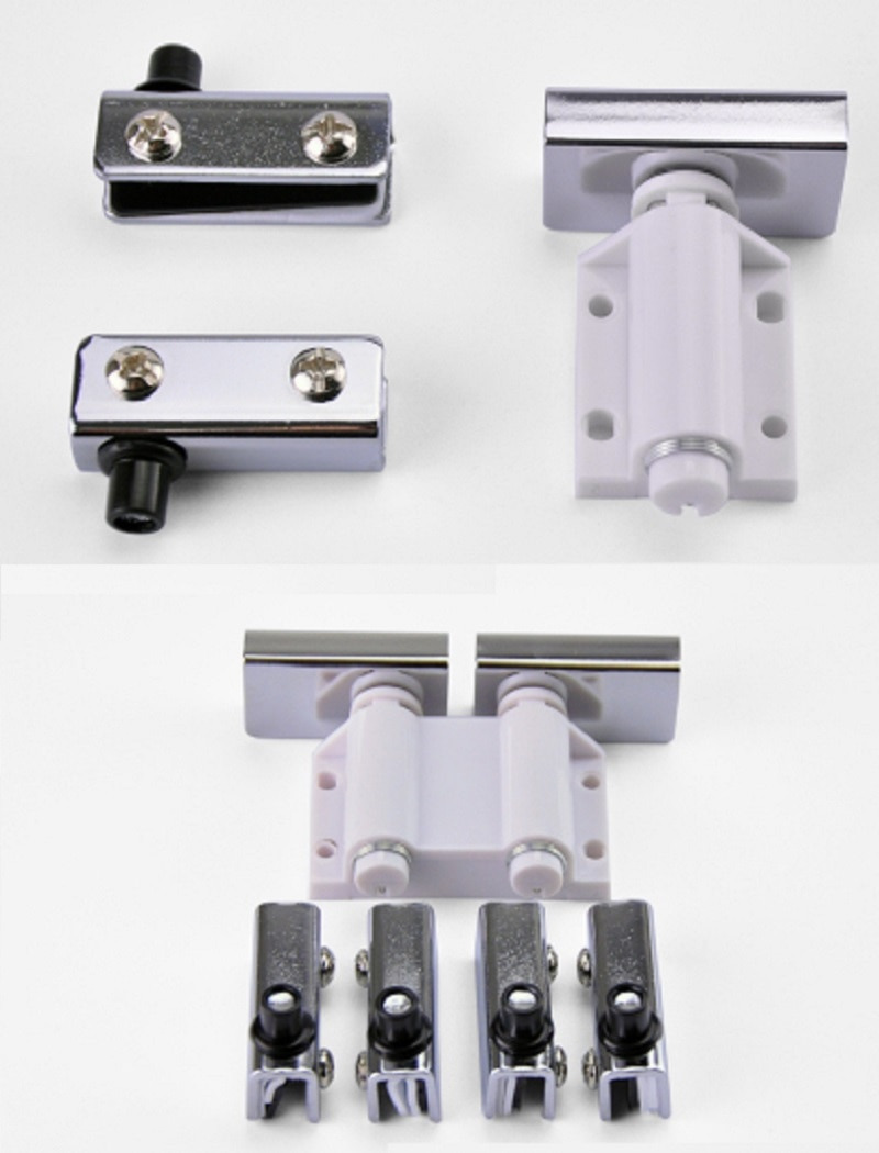 Cabinet Door Latch Lovely Us $9 5 2sets Lot Premintehdw touch Catch Latch Cabinet Single Double Displaying Glass Door Fitting Push to Open Magnet Push to Open Push to Open