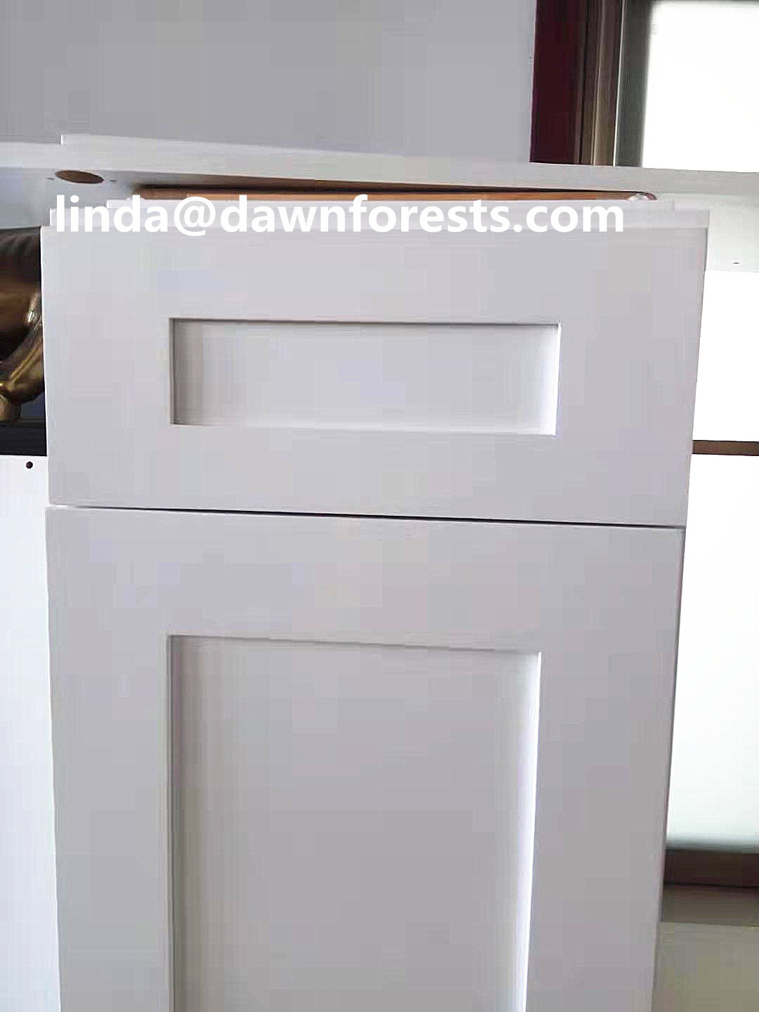 Printed MDF Kitchen Cabinet Parts Shaker Style Cupboard Door