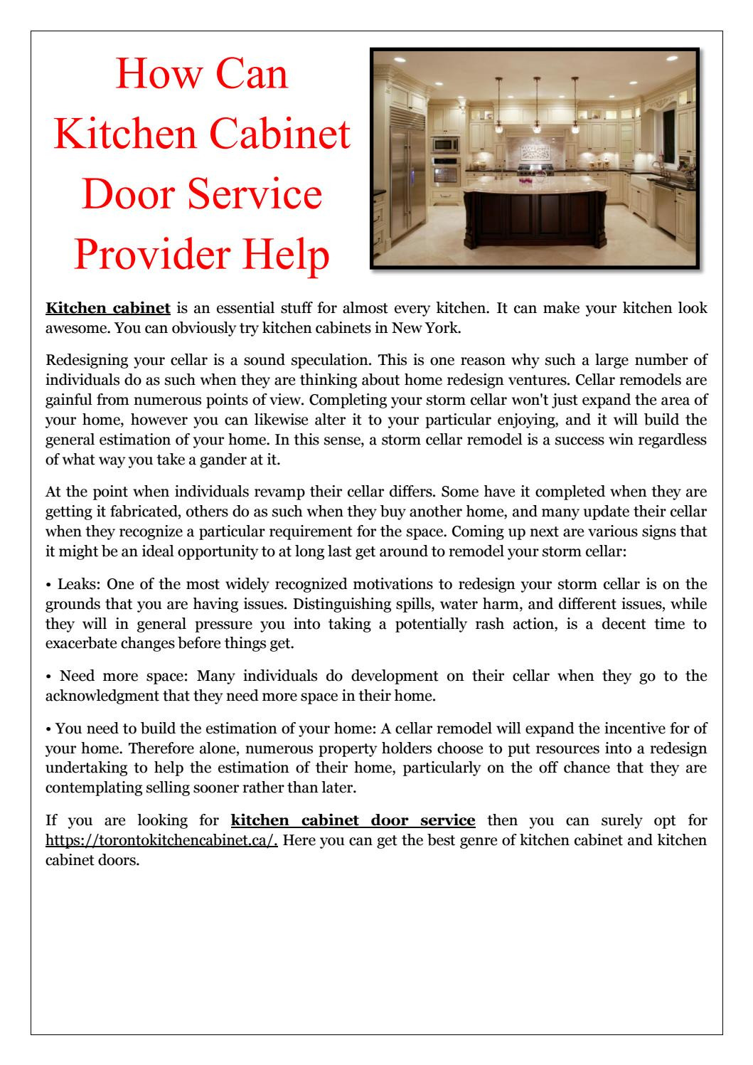 how can kitchen cabinet door service provider help