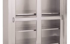 Cabinet Glass Doors Fresh Stainless Steel Cabinet With Sliding Glass Doors