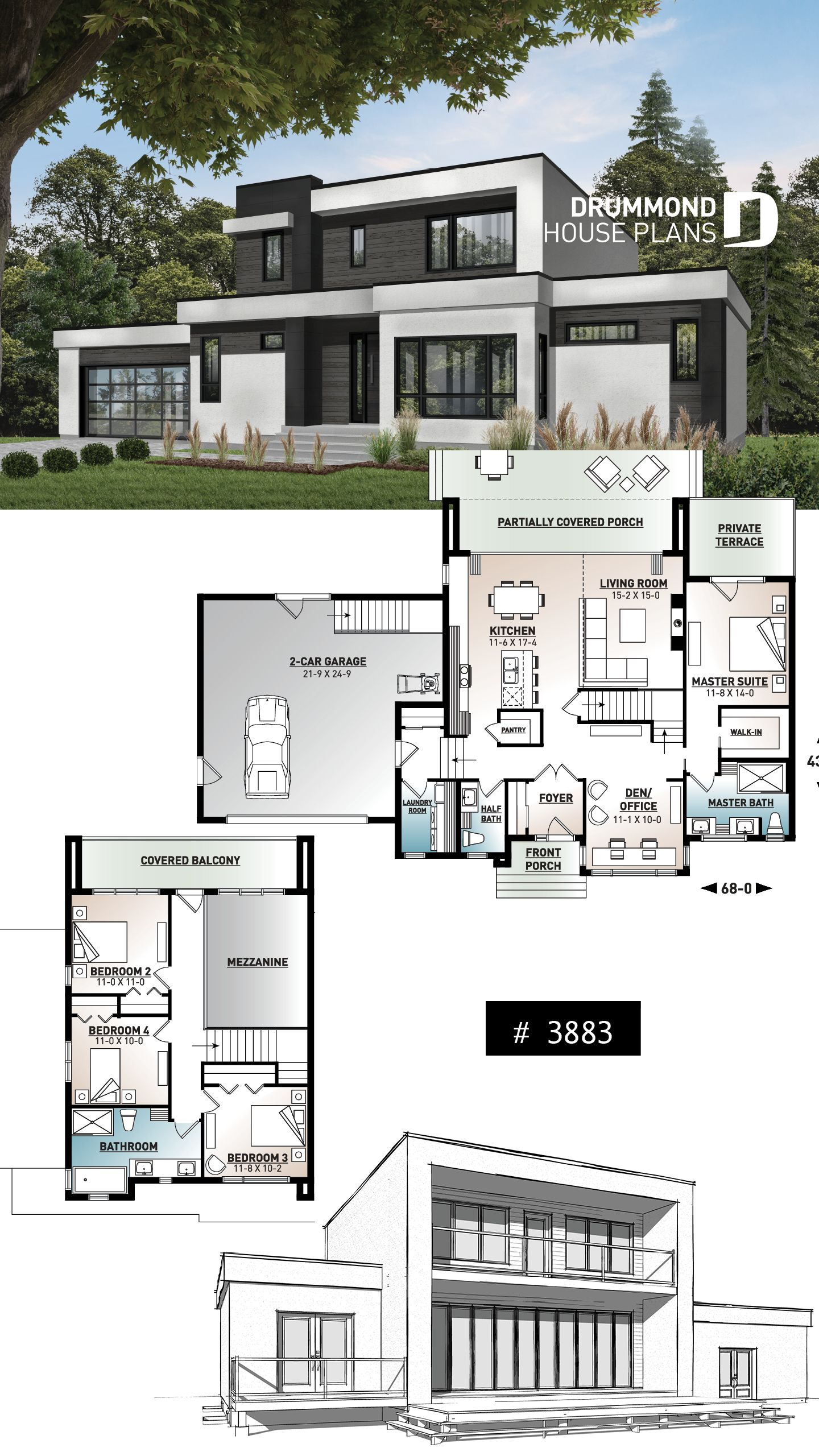 Contemporary House Plans and Designs Beautiful House Plan Es No 3883