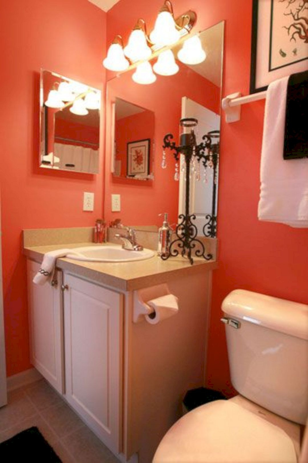 Coral Bathroom Decor Beautiful Teal and Coral Bathroom Decor 17 Teal and Coral Bathroom