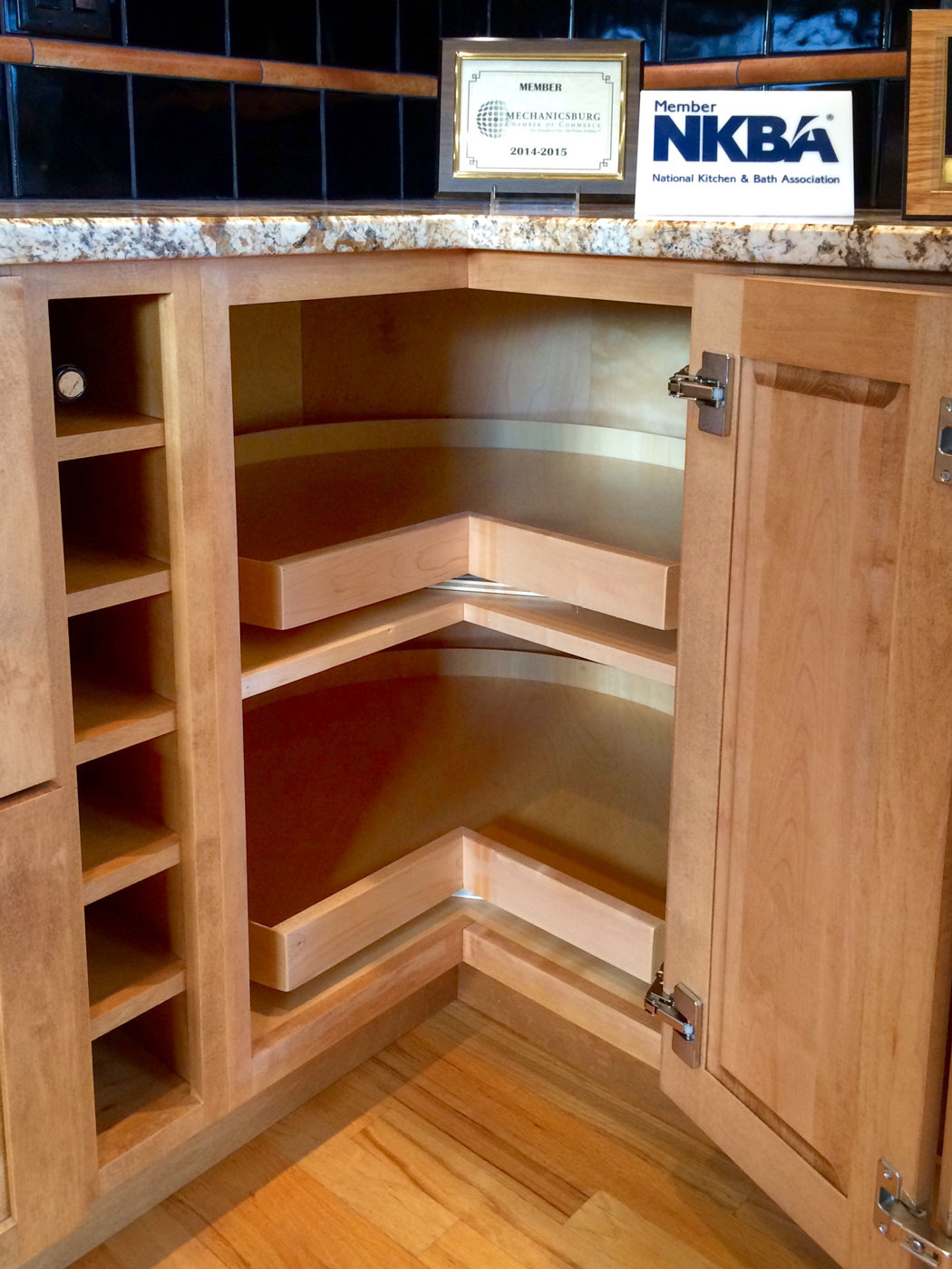 Corner Cabinets with Doors Beautiful Corner Kitchen Cabinet Squeeze More Spaces Home Design