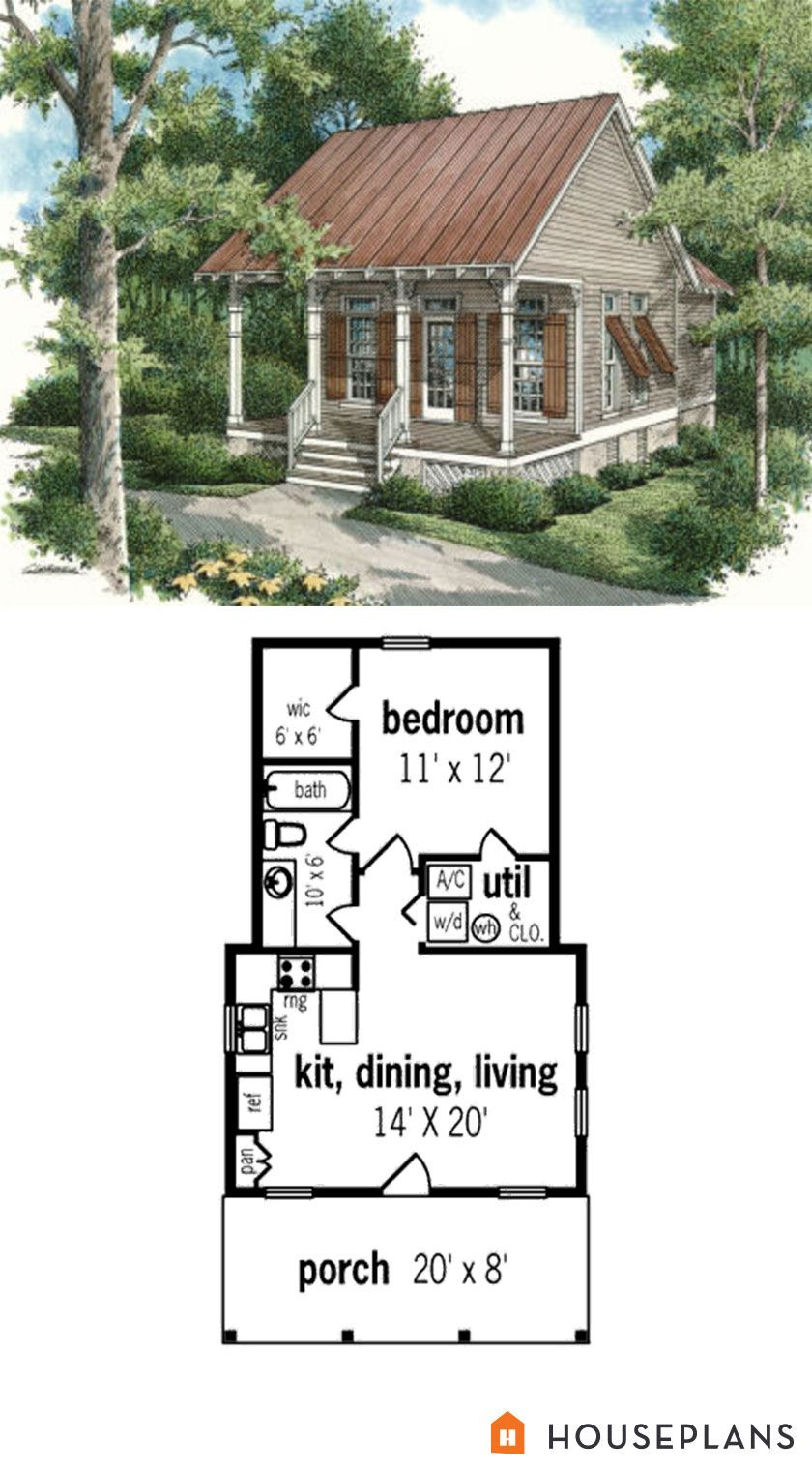 Cottage Style House Plan Inspirational Cottage Style House Plan 1 Beds 1 Baths 569 Sq Ft Plan 45