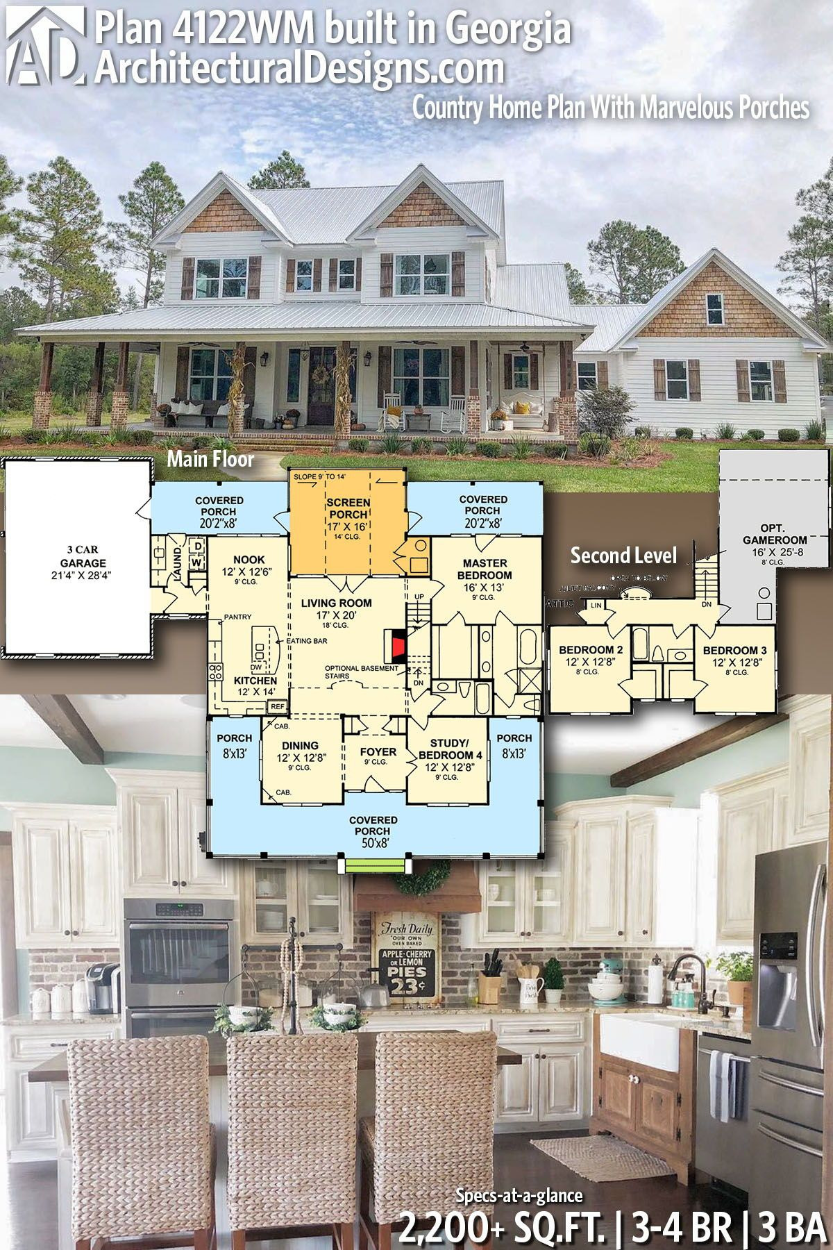 Country Homes House Plans Best Of Plan 4122wm Country Home Plan with Marvelous Porches In