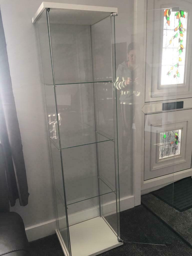 Detolf Glass-door Cabinet Awesome Ikea Detolf Glass Door Cabinet White In Blackwood Caerphilly