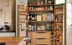Double Door Pantry Cabinet Inspirational Kitchen Brown Wooden Pantry Cabi With Double Doors And 2