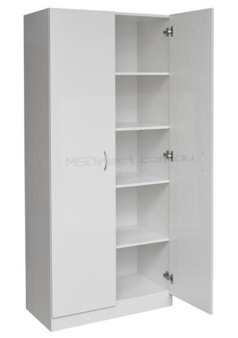 Double Door Pantry Cabinet New Details About New 2 Door Pantry Cupboard Linen Storage Cabinet Shelf Wardrobe Kitchen Laun