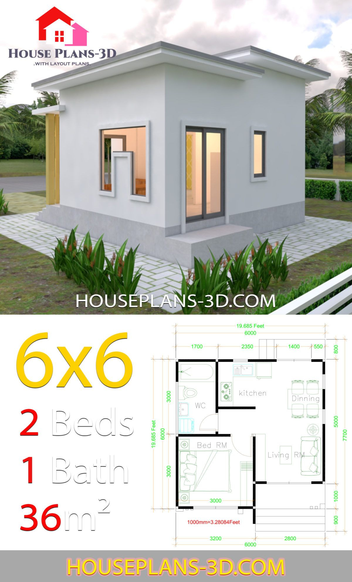 Flat Roof House Plans Design Awesome House Plans 6x6 with E Bedrooms Flat Roof House Plans 3d