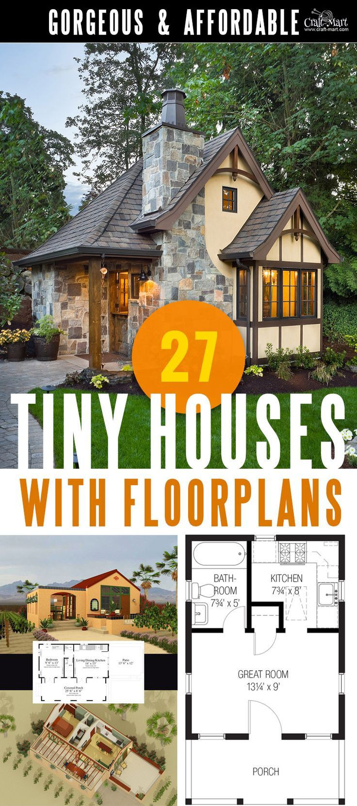 Free Plans for Houses Beautiful 27 Adorable Free Tiny House Floor Plans