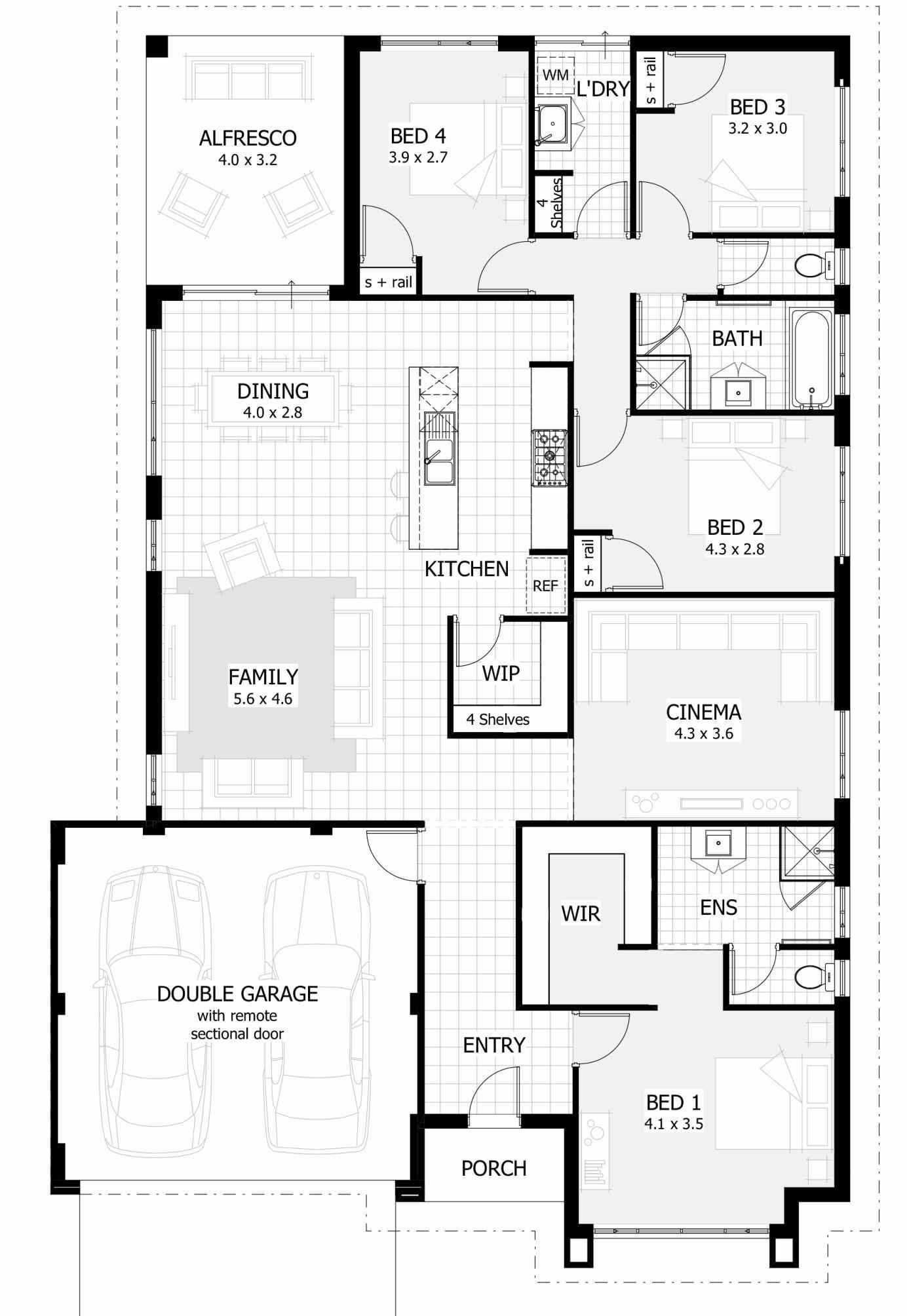 Free Single Story House Plans New Lovely Single Story 4 Bedroom Farmhouse Plans