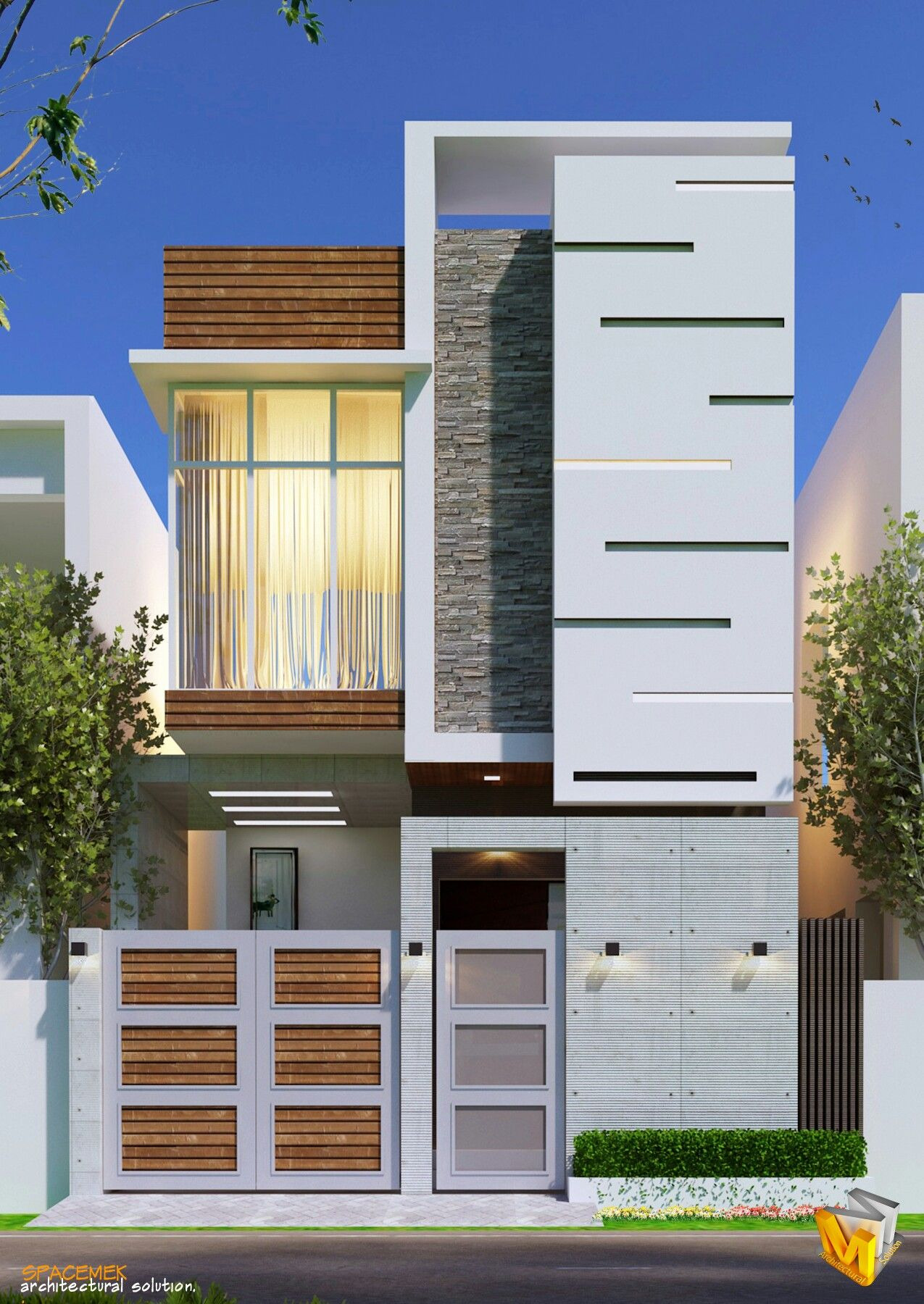 Front Portion Design Of House Beautiful Architecture