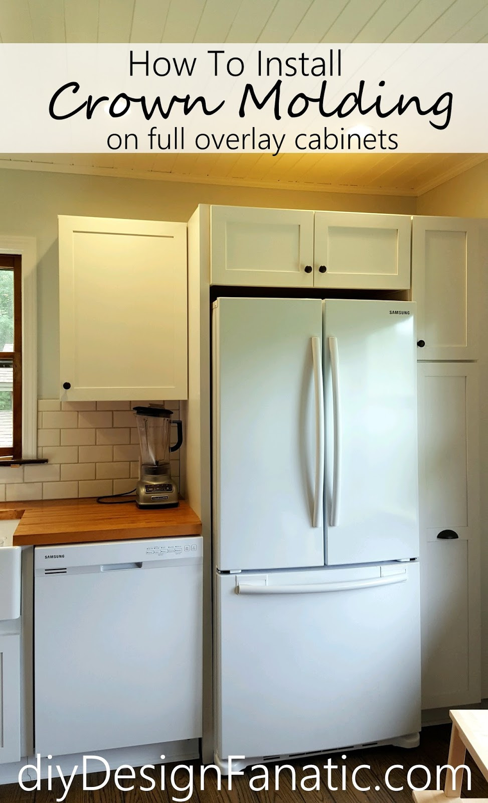 Full Overlay Cabinet Doors Beautiful Diy Design Fanatic How to Install Crown Molding Full