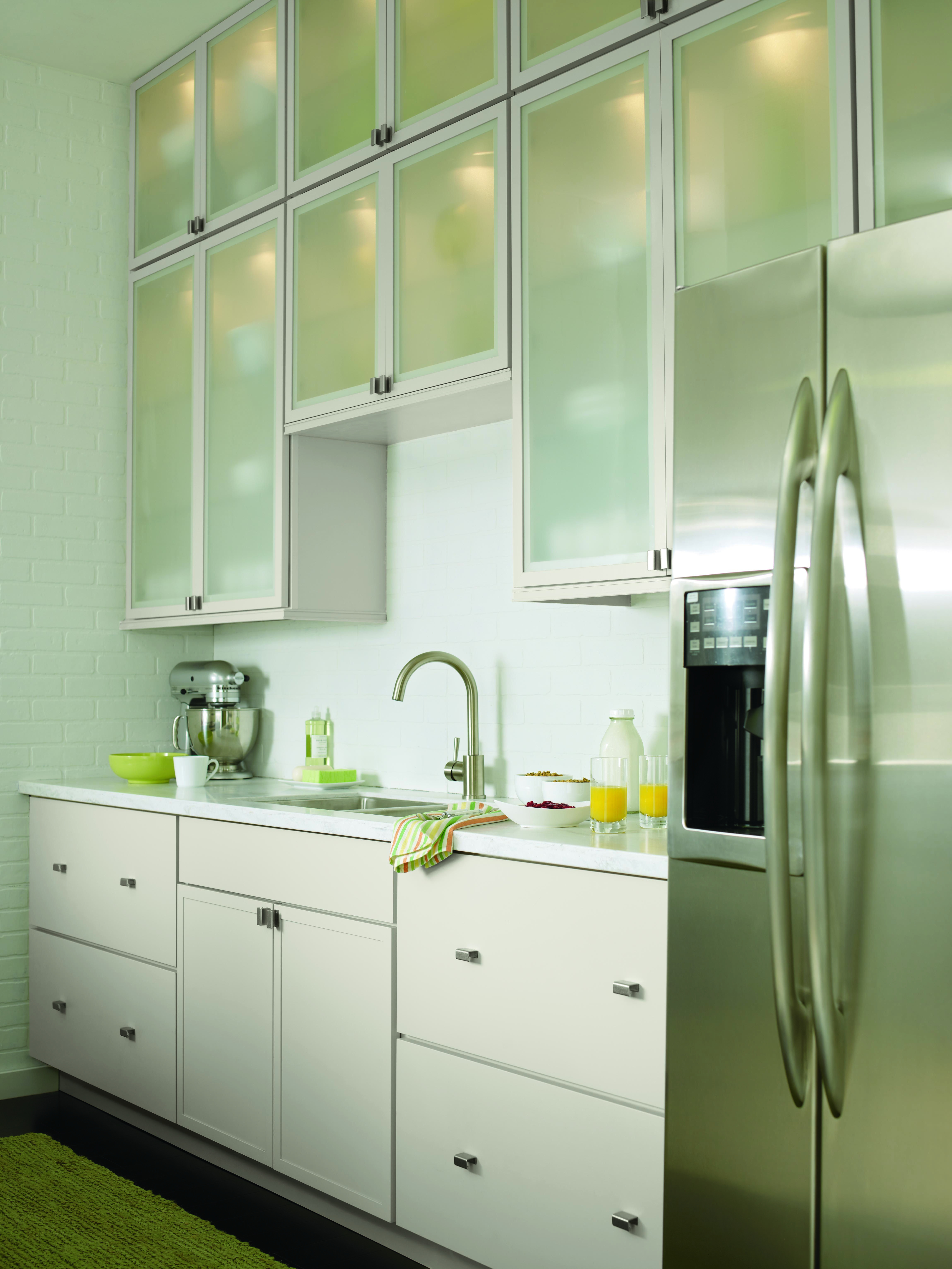 Glass Cabinet Doors Home Depot Elegant Create A the Illusion Of A Bigger Kitchen with the Martha