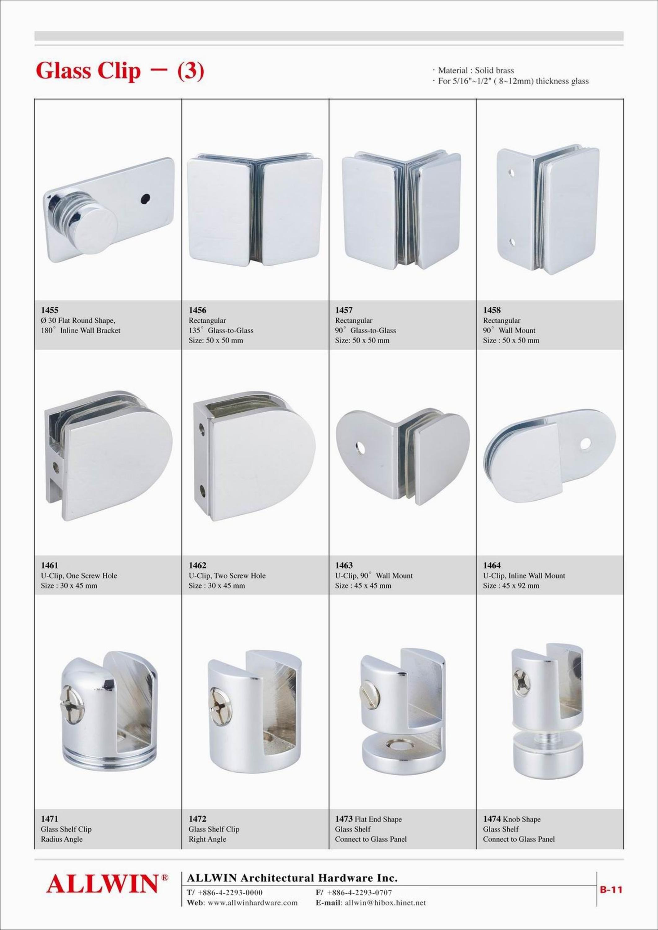 product Glass to glass Semicircular glass door hinge product 04 003 004