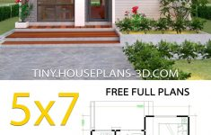 Guest House Design Plans Beautiful Small House Design Plans 5x7 With E Bedroom Gable Roof In