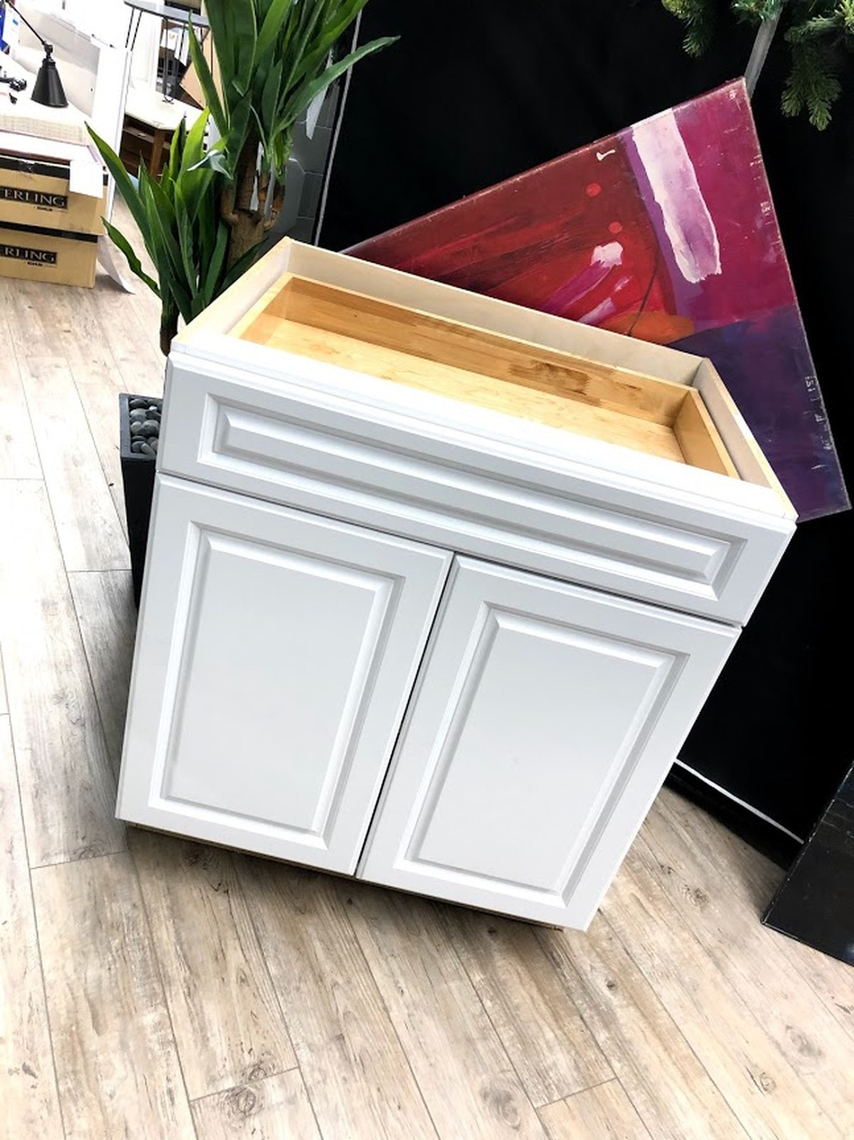 hampton bay 30 elgin kitchen base cabinet white