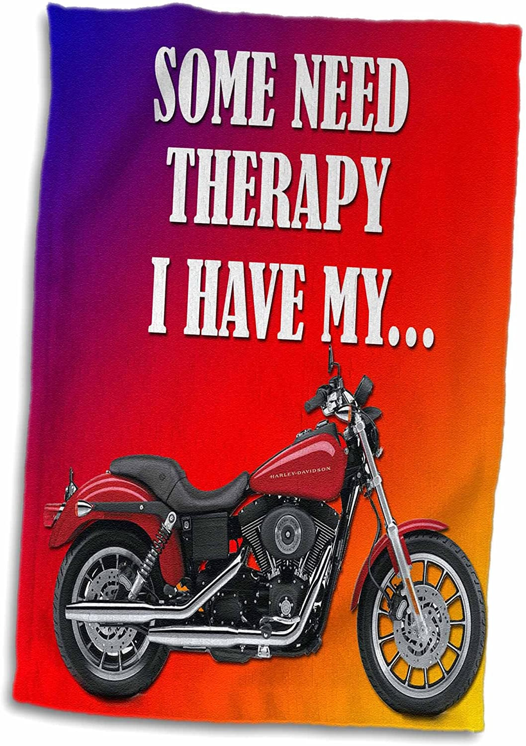 """Harley Davidson Bathroom Decor Luxury 3d Rose some Need therapy Picturing Harley Davidson Cool Bike Hand towel 15"""" X 22"""""""