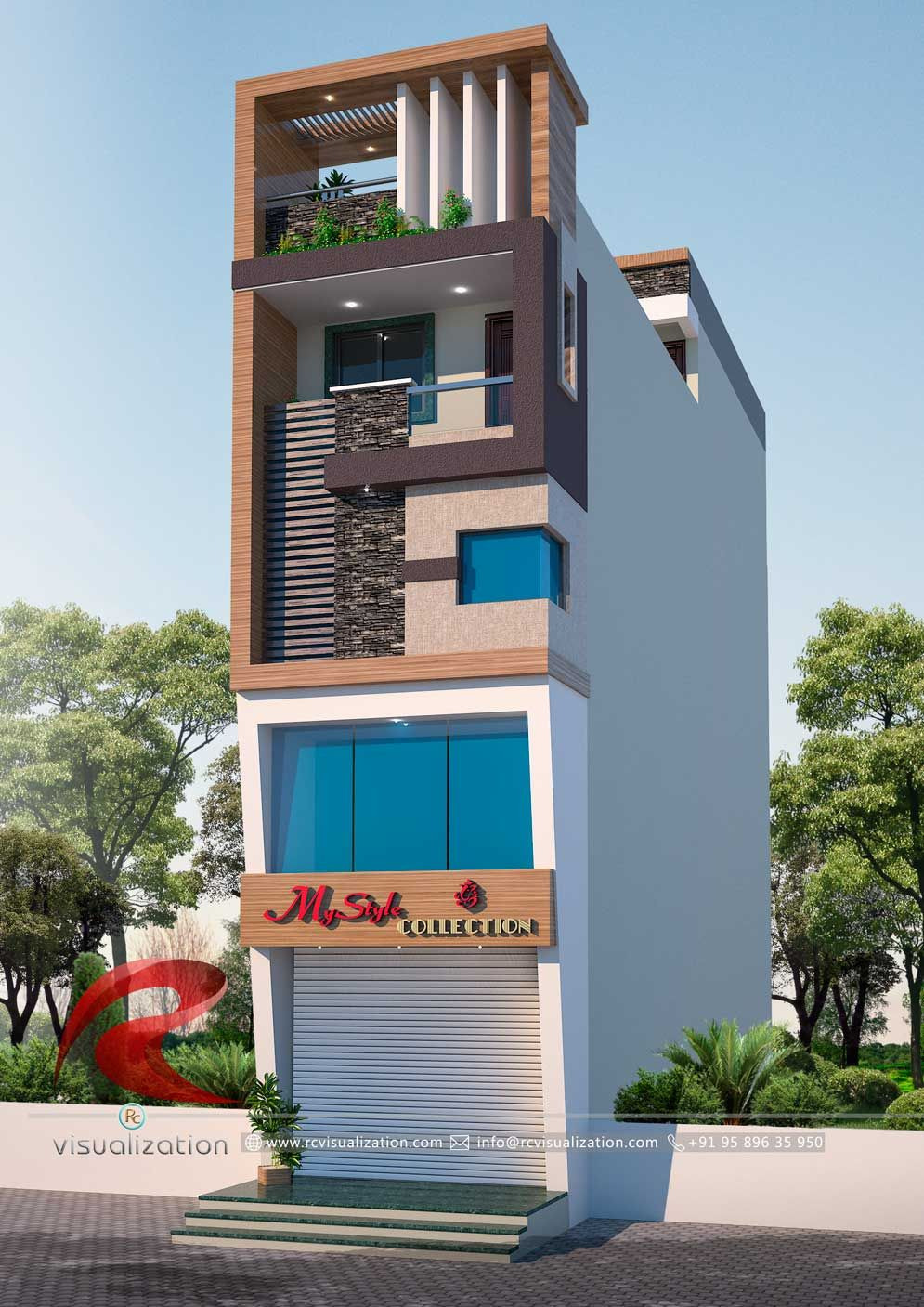 House Design Picture Gallery Beautiful 3d Narrow House Designs Gallery