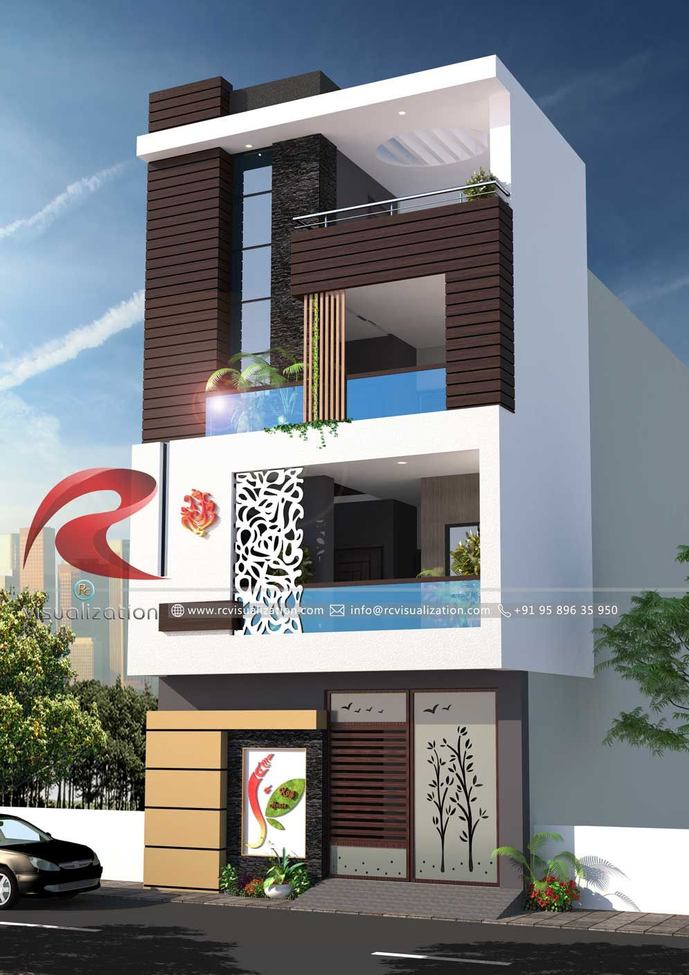 House Design Picture Gallery Elegant 3d Narrow House Designs Gallery