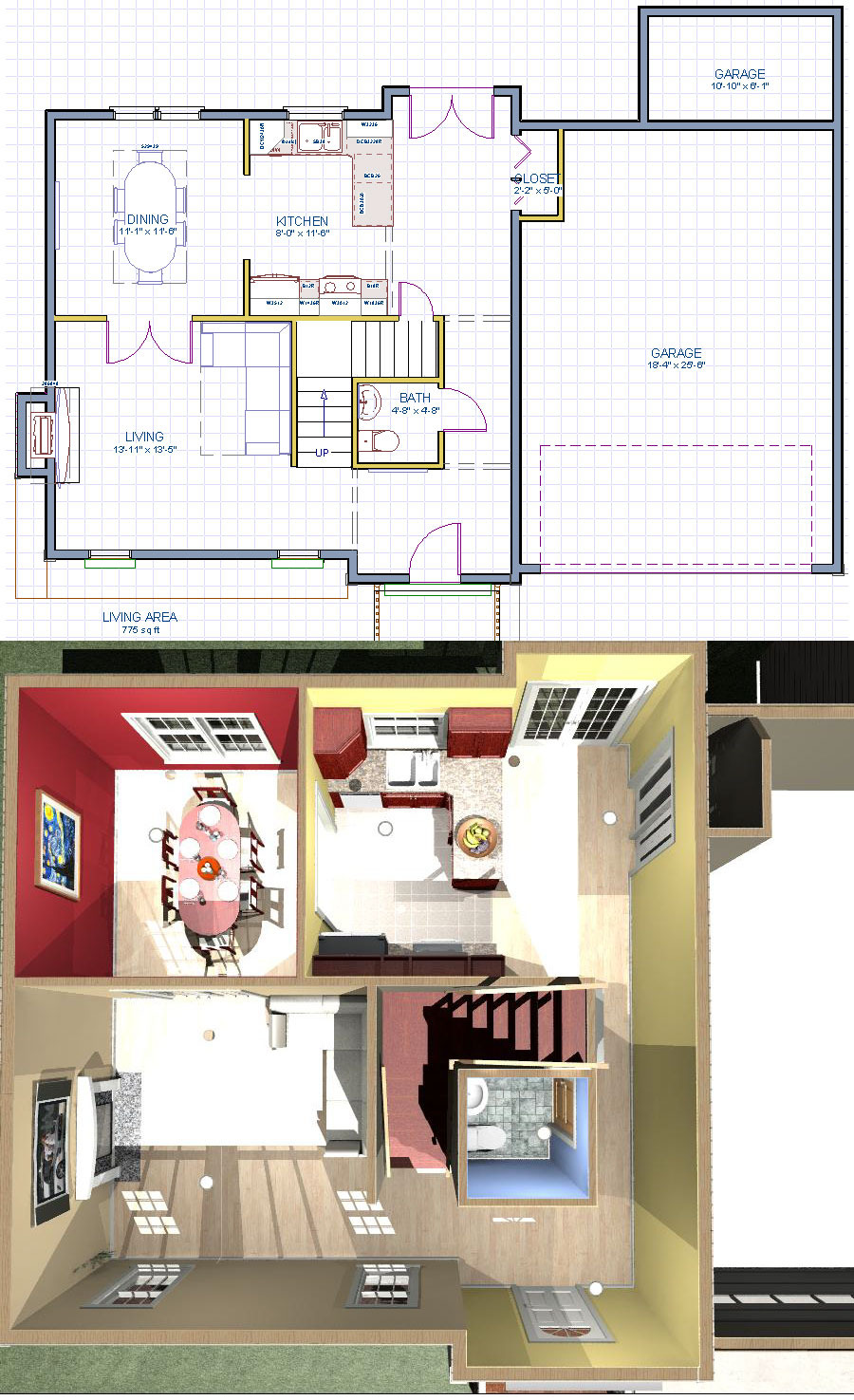 1st floor plan NC Colonial House