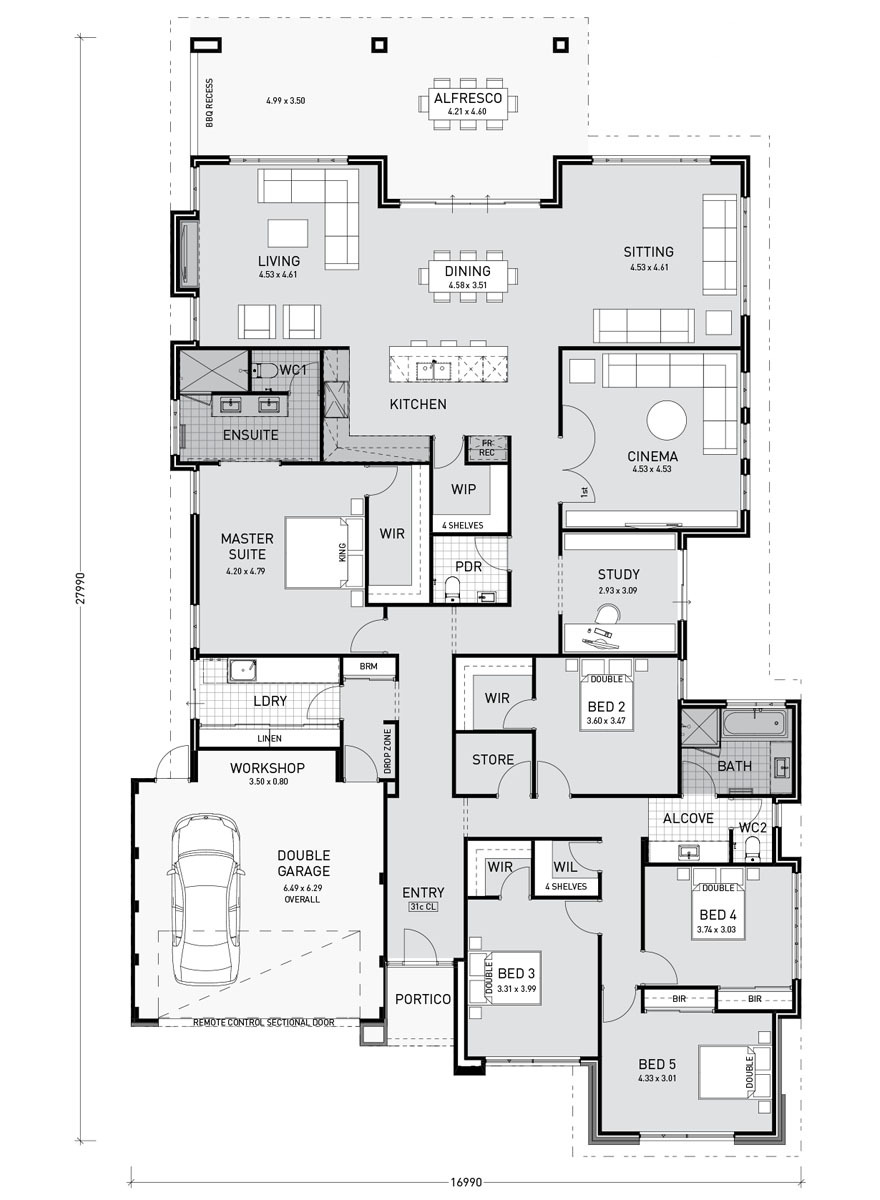 House Plans for Single Story Homes Beautiful Single Storey Home Designs and Builders Perth