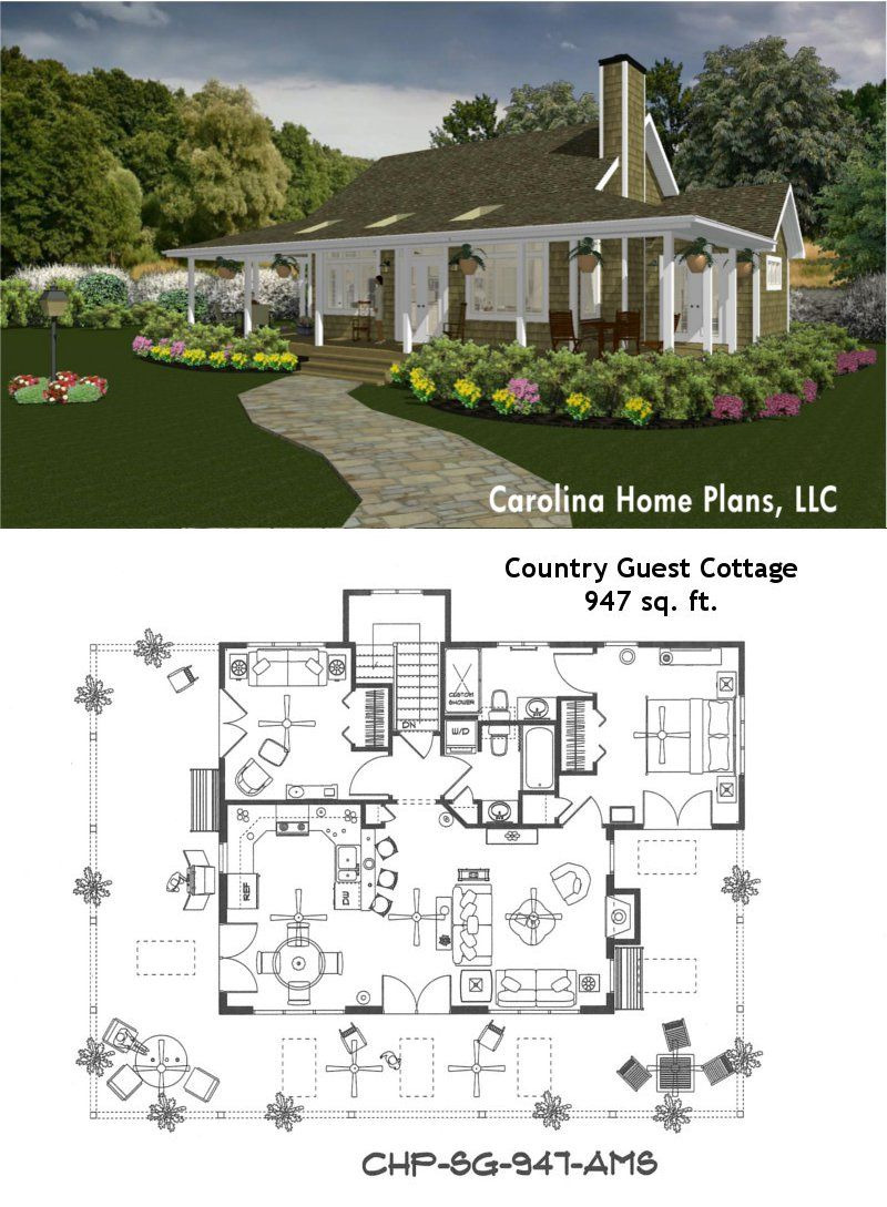 House Plans for Small Country Homes Awesome Small Country Cottage Vacation or Guest House Plan