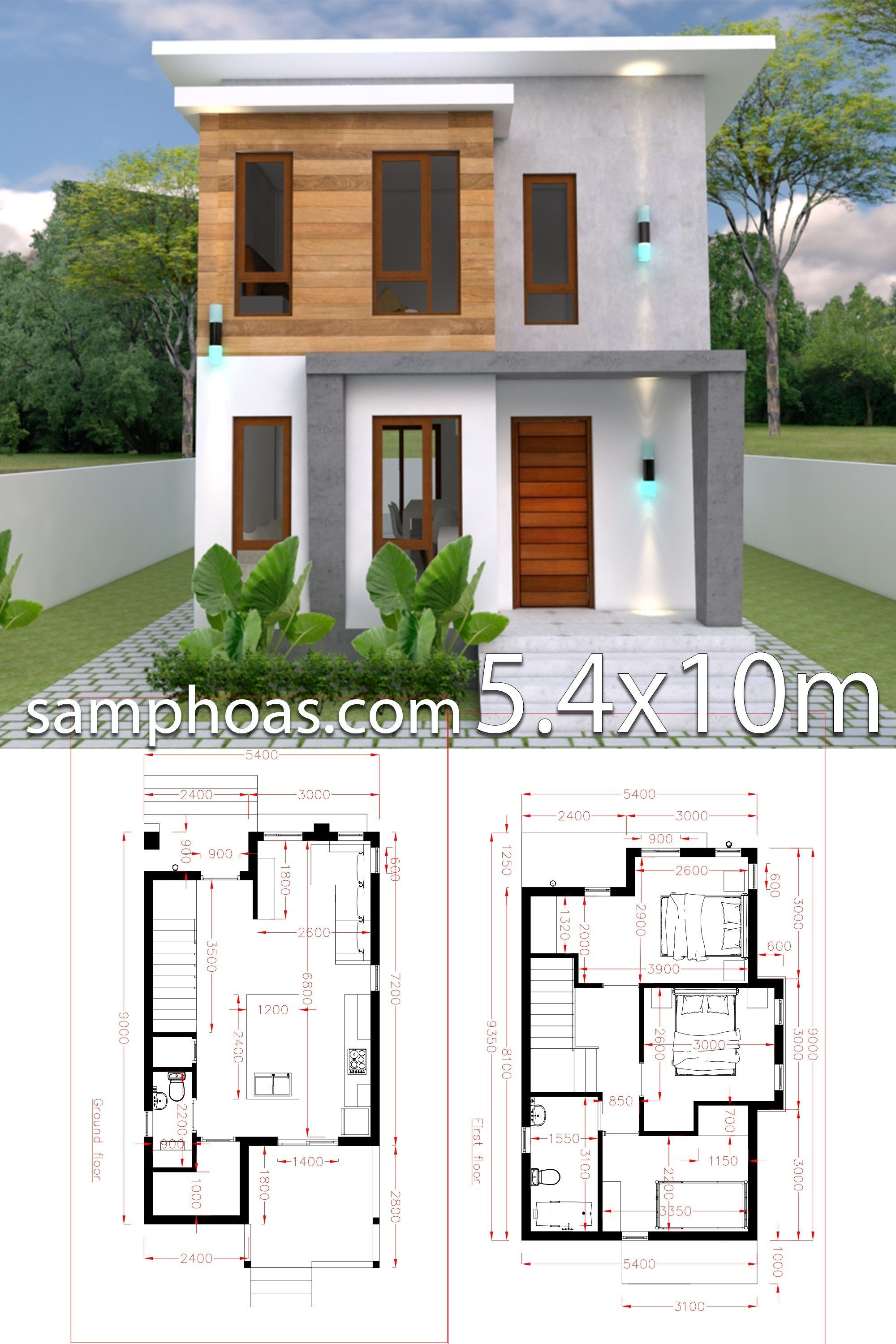House Plans for Small House New Small Home Design Plan 5 4x10m with 3 Bedroom