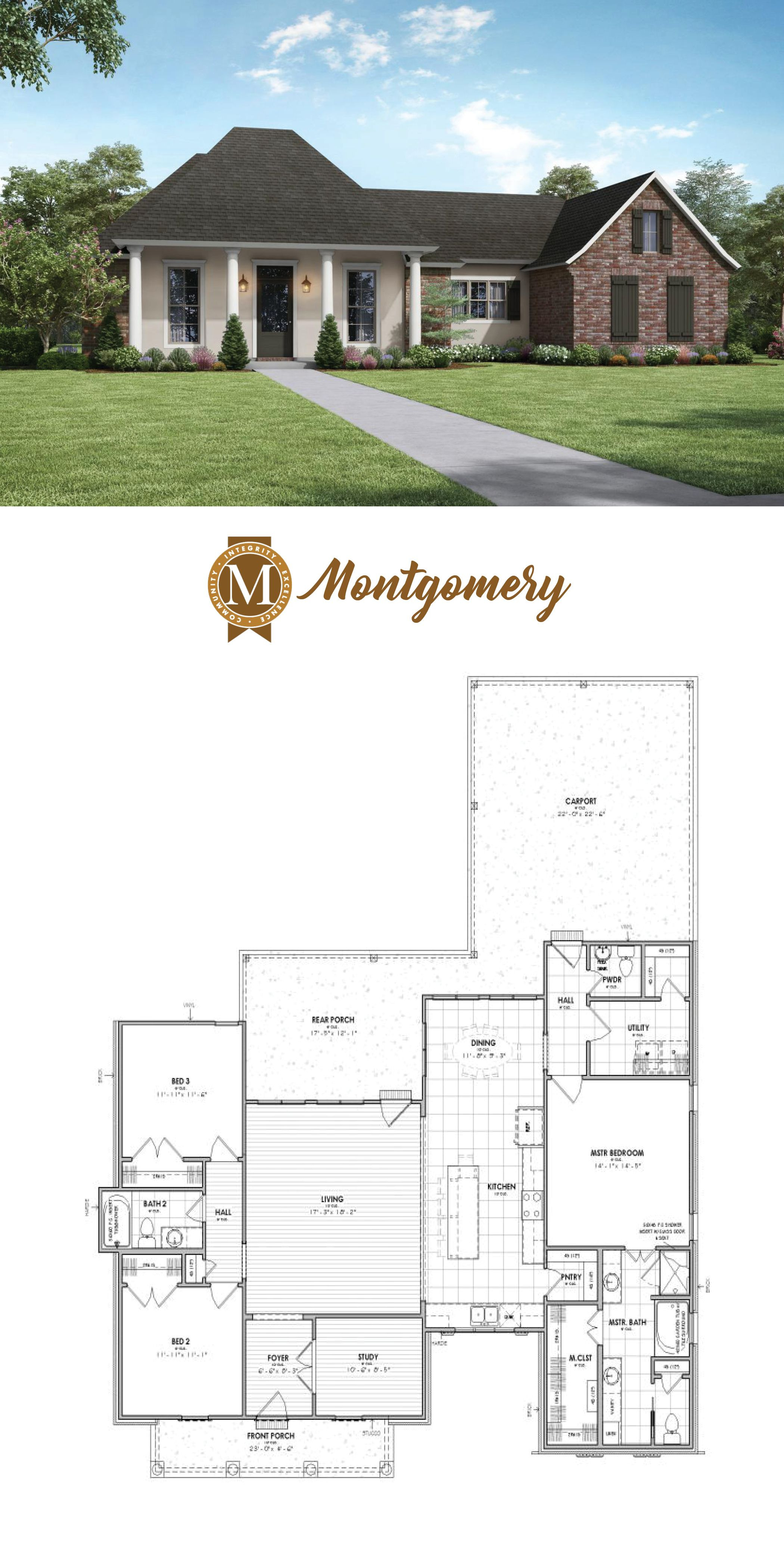 House Plans In Baton Rouge New Living Sq Ft 1988 Bedrooms 3 Baths 2 5 Lafayette Lake