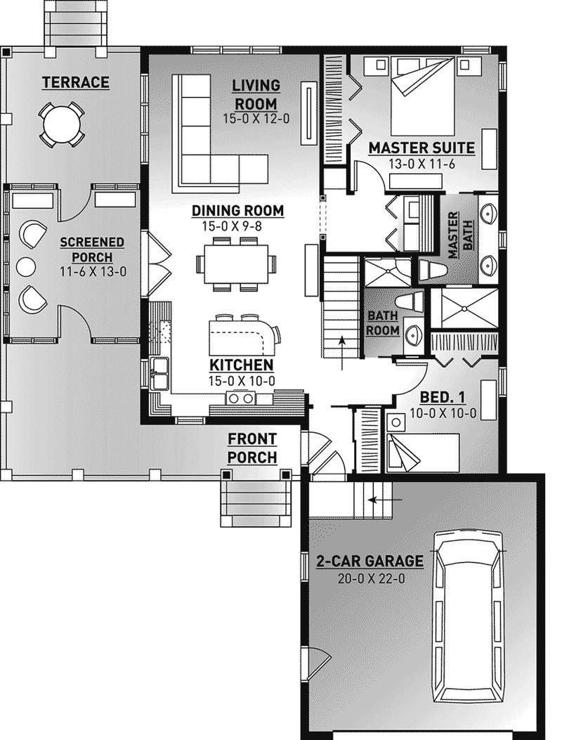 """House Plans Screened Porch Awesome House Plans and More On Twitter """"this 2 Bedroom 2 Bathroom"""