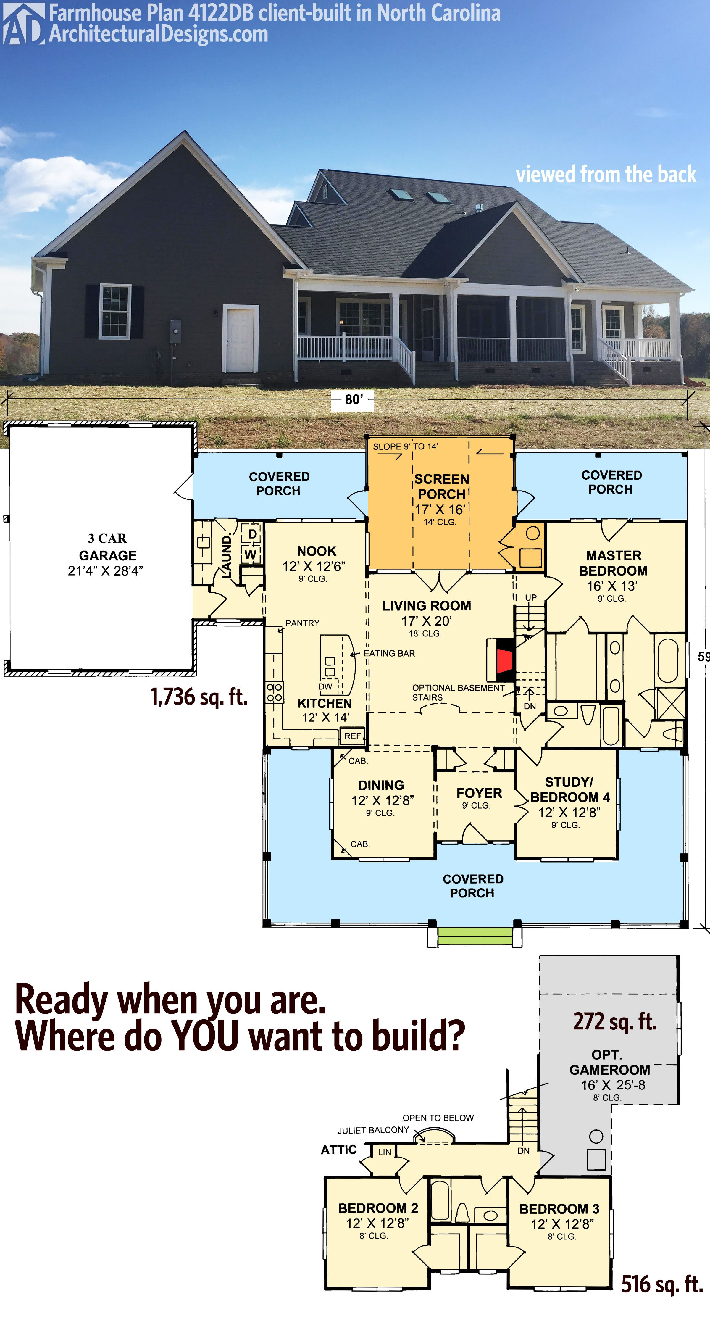 House Plans Screened Porch Best Of Plan 4122wm Country Home Plan with Marvelous Porches