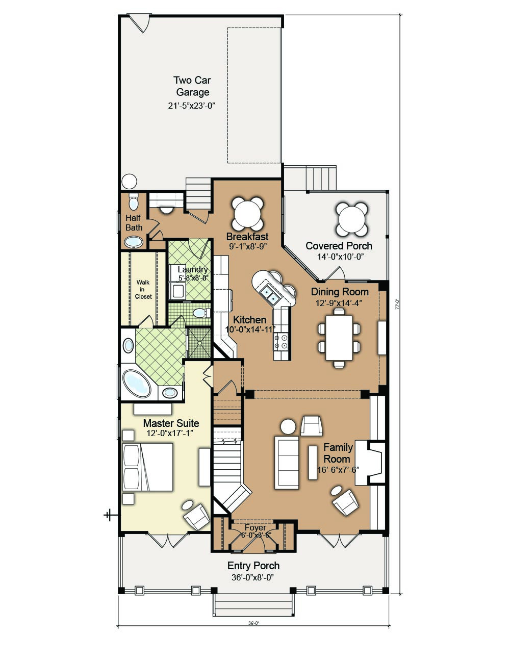 Everett FirstFloor Wilmington House Plan