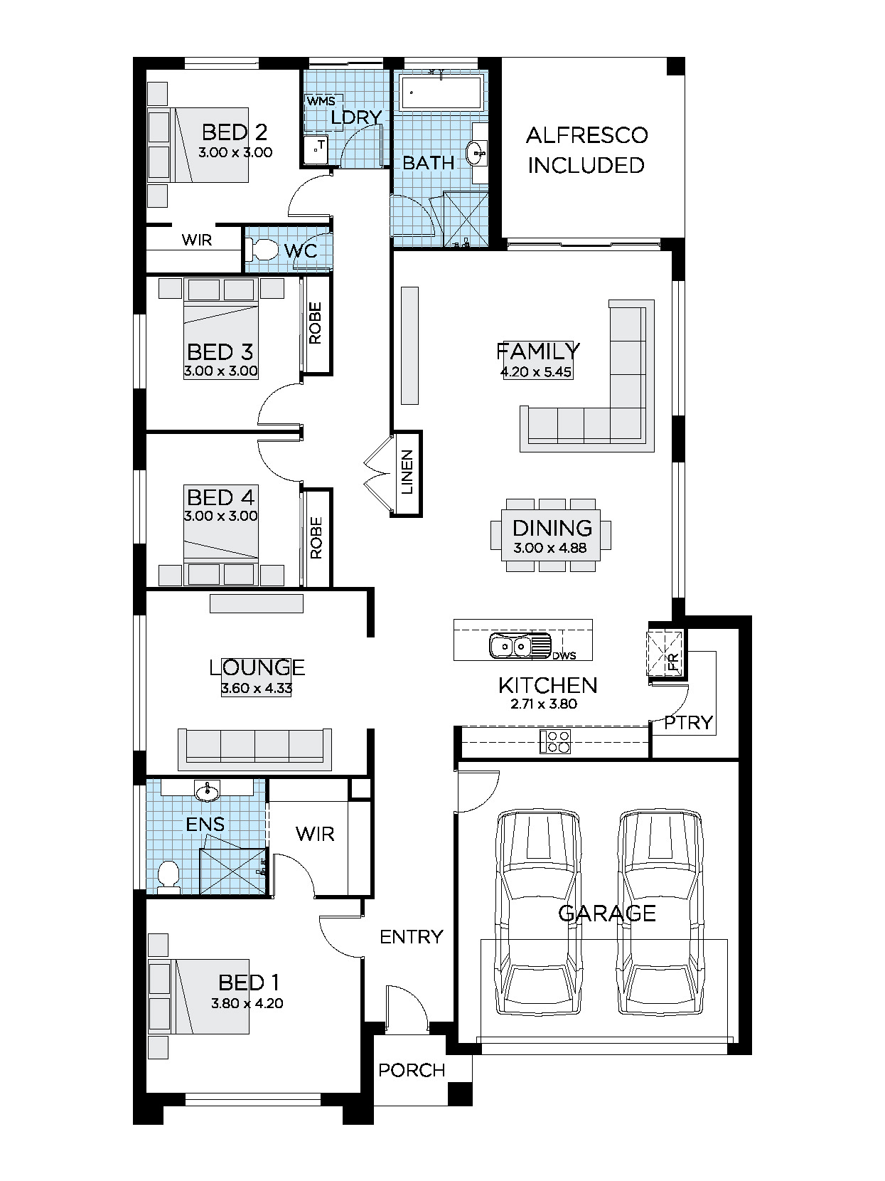 Houses Designs and Floor Plans Inspirational Helix Home Design 4 Bedroom House Design
