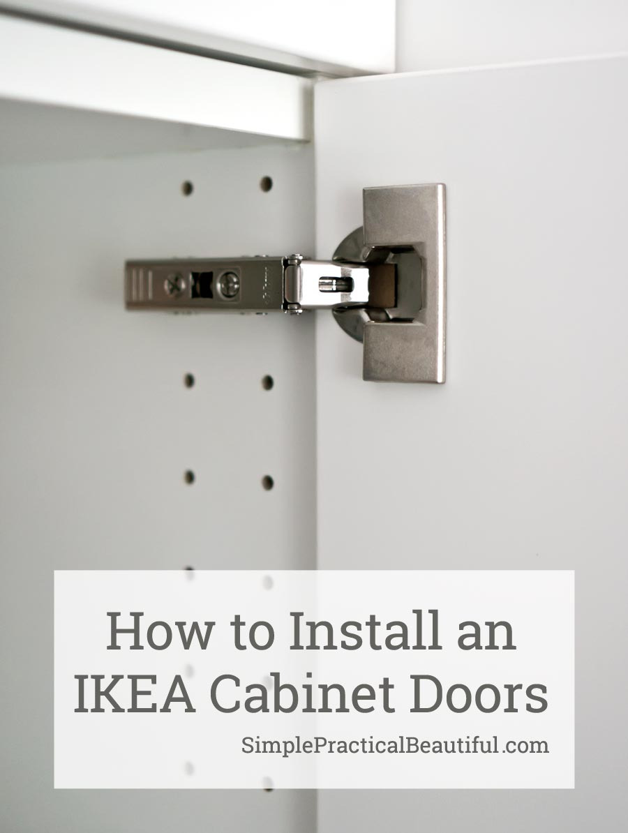 How to Install Cabinet Doors Awesome How to attach An Ikea Sektion Cabinet Door