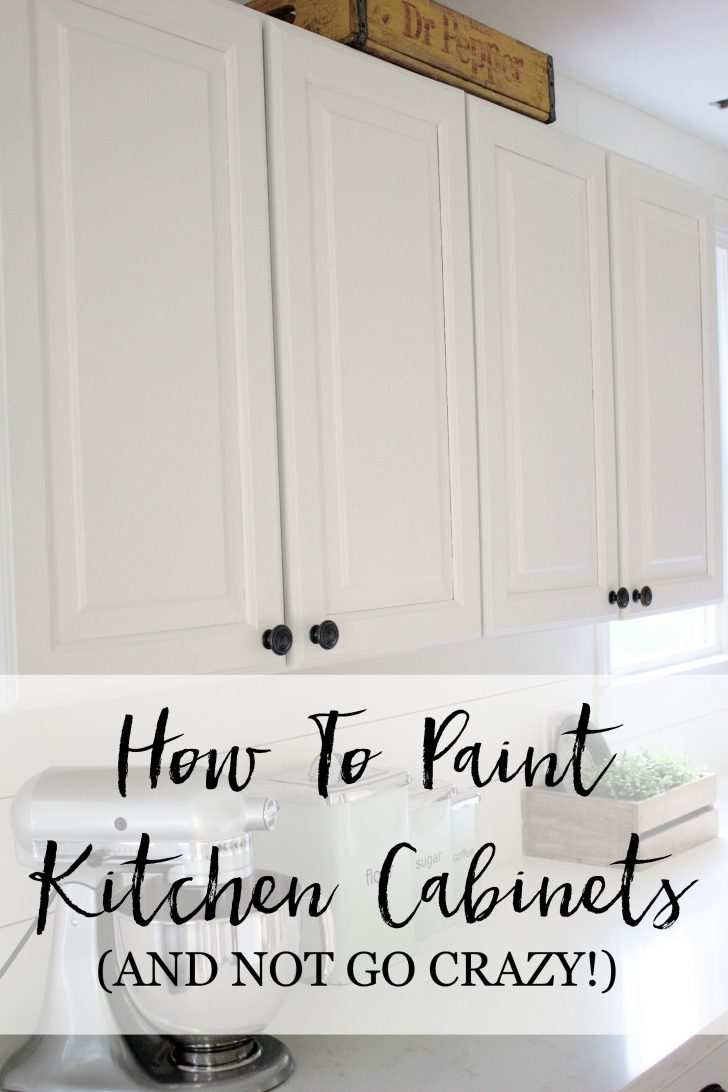How to Paint Cabinet Doors without Brush Marks 2021