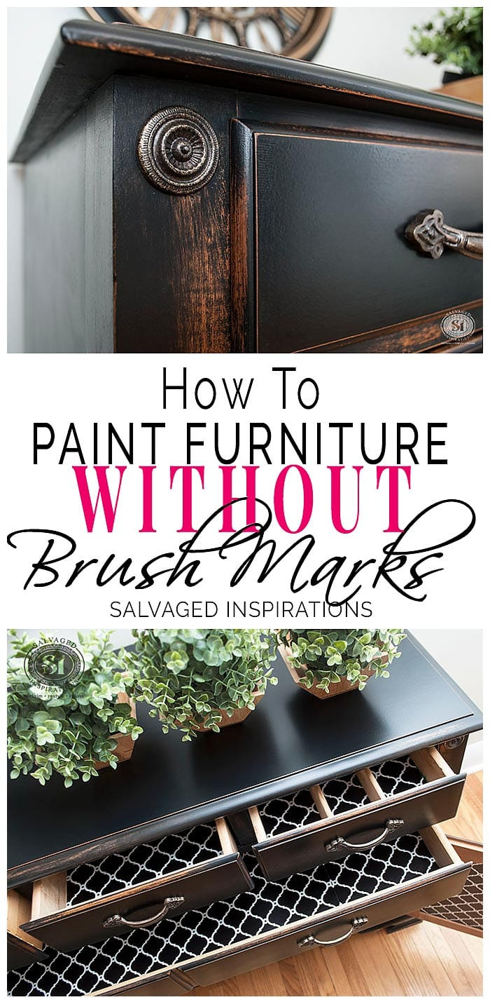 How to Paint Cabinet Doors without Brush Marks Elegant How to Paint Furniture without Brush Marks Salvaged