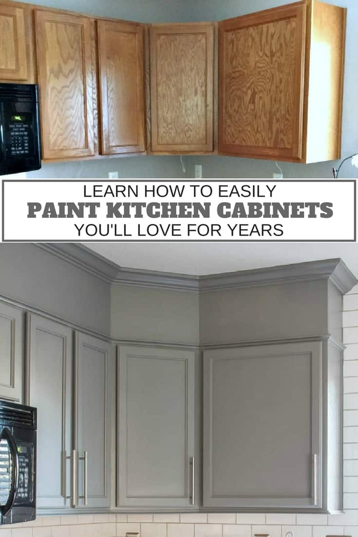 Learn How To Easily Paint Kitchen Cabinets 1