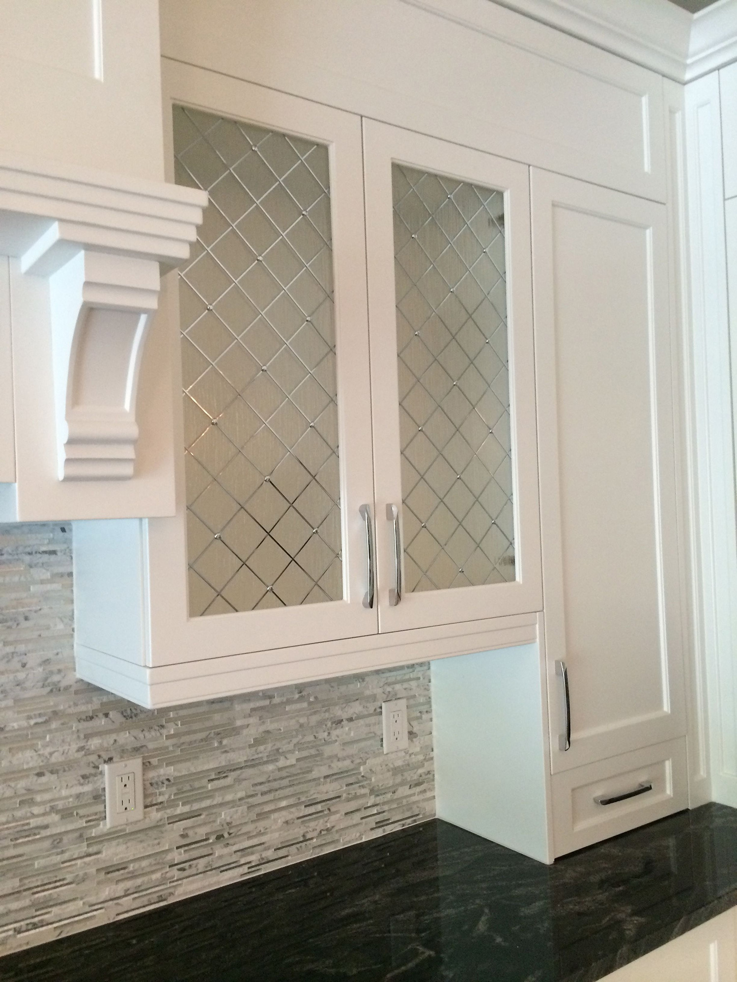 How to Put Glass In Cabinet Doors Luxury Glass Door Kitchen Cabinets Add Striking touch to the