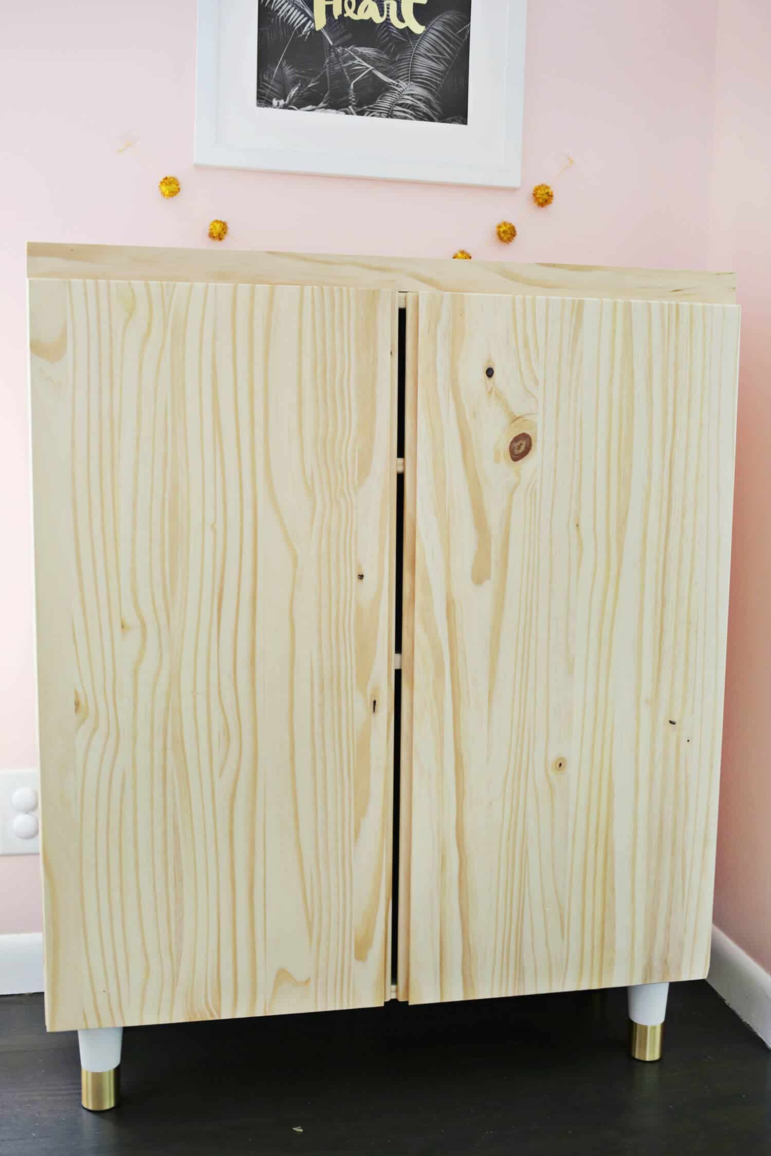 Ikea Cabinet with Doors Luxury Ikea Ivar Cabinet Hack Turned Into A Bar Cabinet A