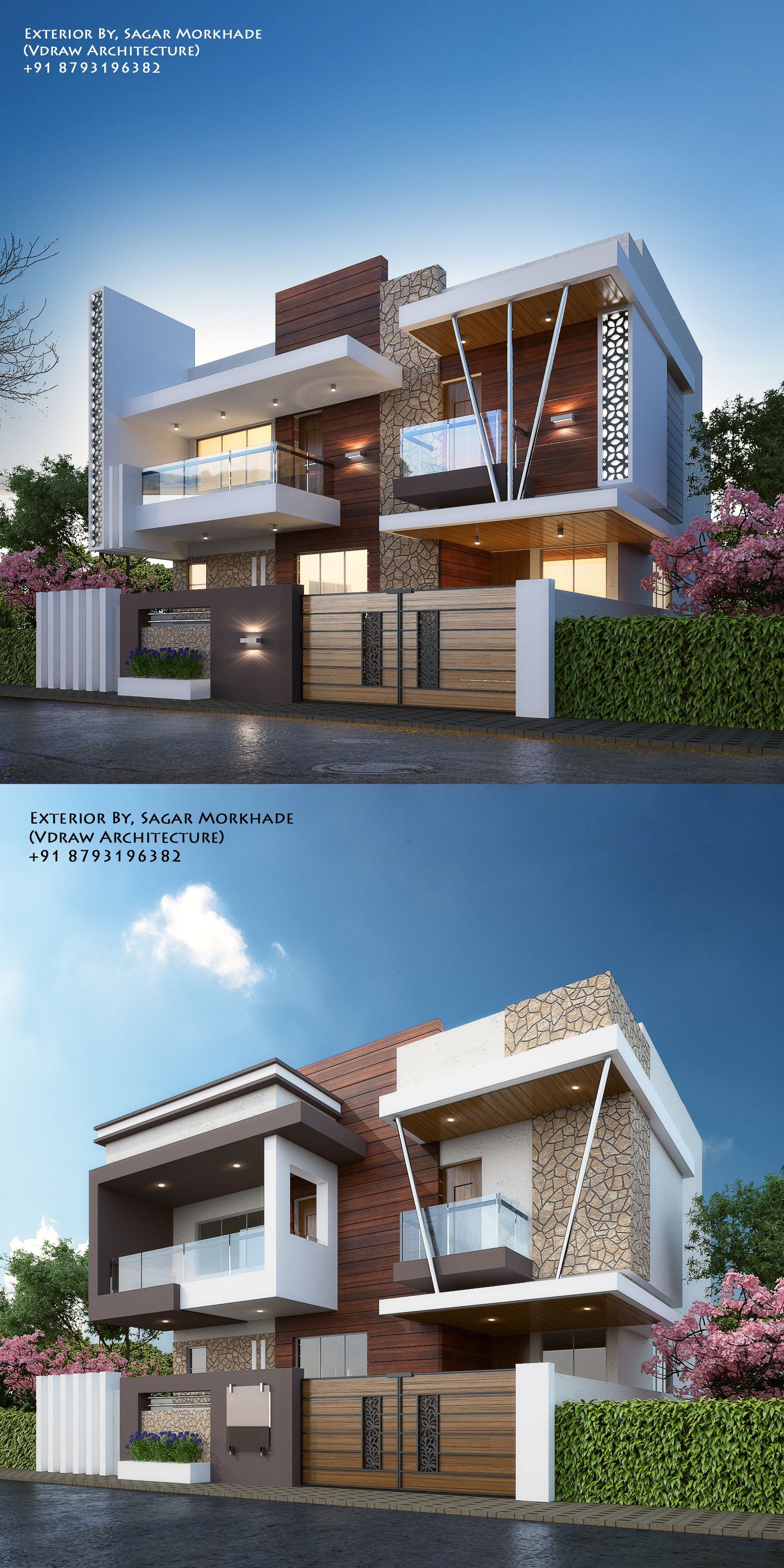Images Of Most Beautiful Bungalows Best Architecture Luxury Modern House Bungalow Exterior by Ar Sagar Morkhade Vdraw