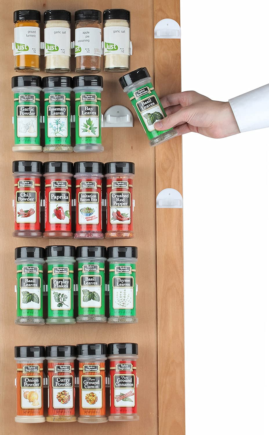 Inside Cabinet Door Spice Rack Luxury Spice Rack 36 Spice Gripper Spice Racks Strips Cabinet Cabinet Door Use Spice Clips for Spice organizer Stick or Screw Spice Storage Spice Clips