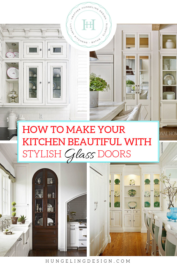 how to make kitchen beautiful with glass cabinet doors
