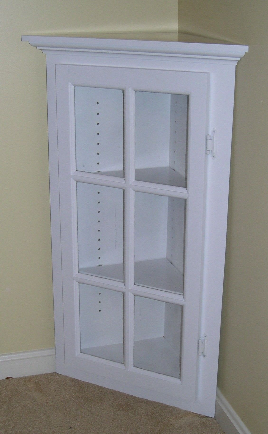 Linen Cabinet with Glass Doors Fresh White Corner Cabinet with Glass Doors