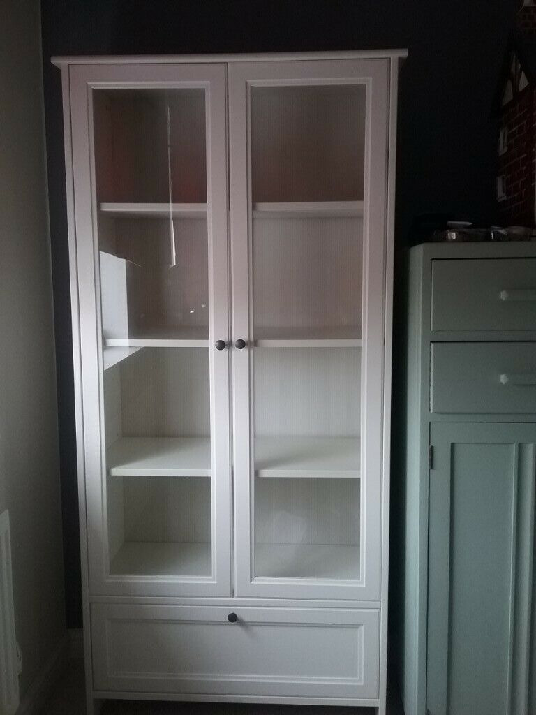 Linen Cabinet with Glass Doors Unique White Display Cabinet Linen Cupboard In Hove East Sus
