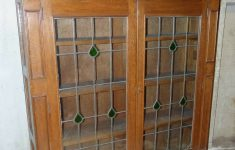 Low Cabinet With Doors Elegant A 1920 S Oak Low Display Cabinet Having 2 X Leaded Glass