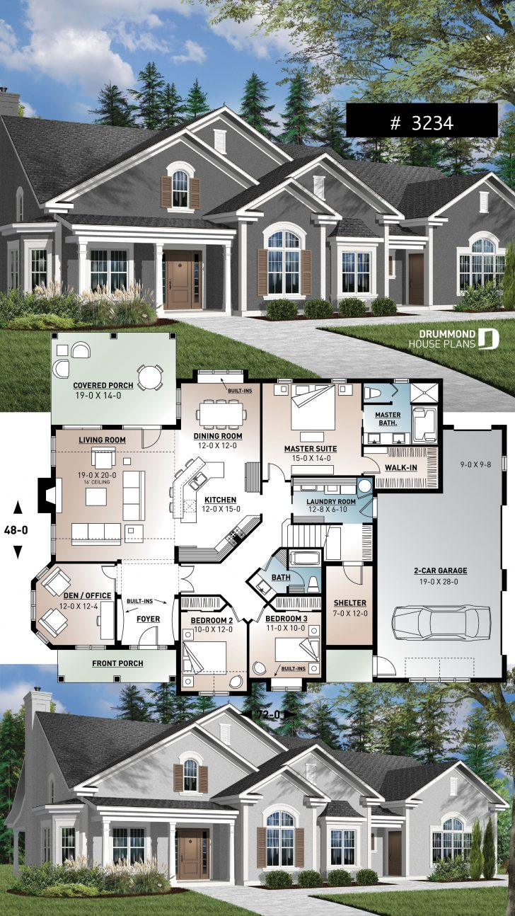 Luxury House Plans with Basements 2020