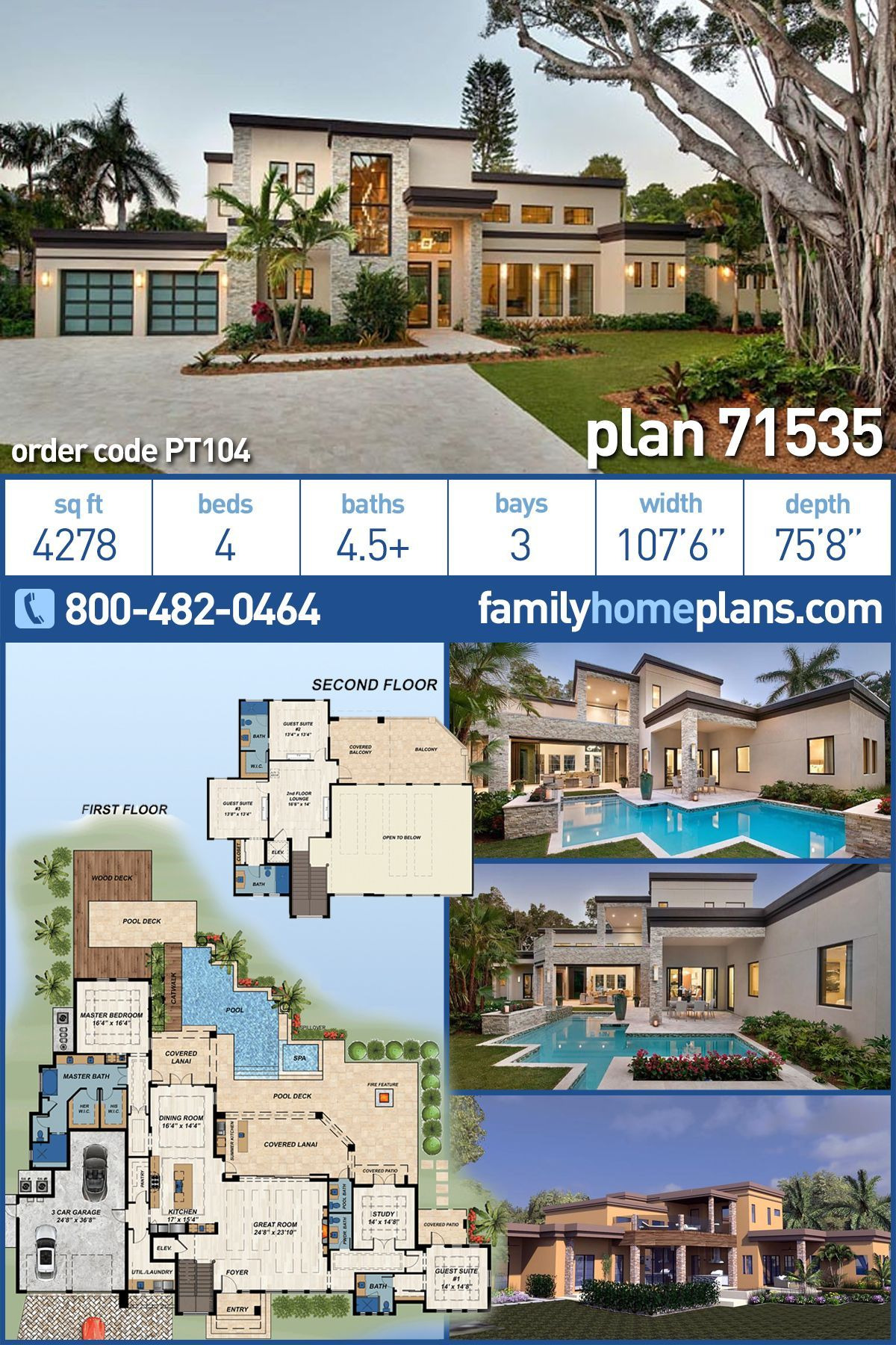 Luxury Modern Home Plans Awesome Modern House Plans In 2020