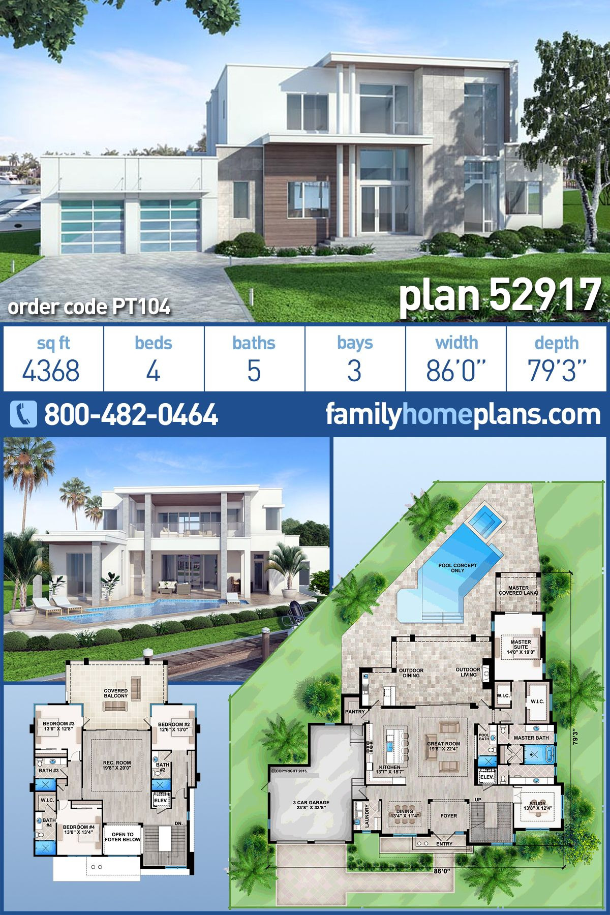 Luxury Modern Home Plans New Contemporary Modern House Plan with 4 Beds 5 Baths