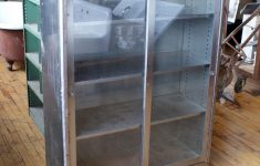 Metal Cabinet With Glass Doors Beautiful Shallow Steel Cabinet W Sliding Glass Doors