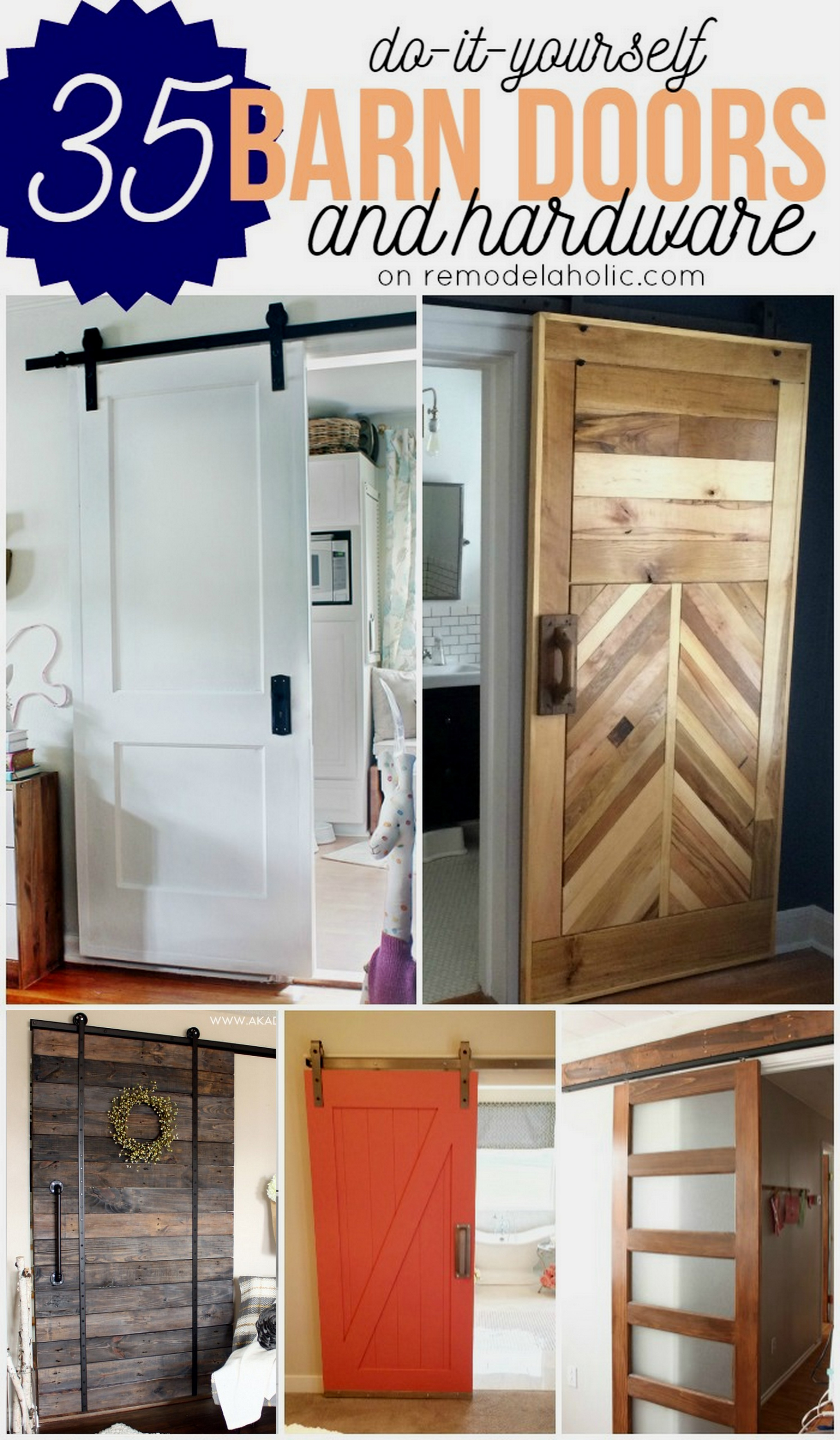 Mini Barn Door Hardware for Cabinets Awesome Remodelaholic